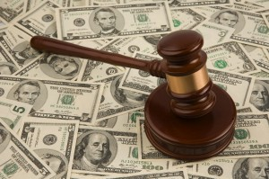 Austin Spousal Support Attorney - Gavel on top of pile of cash