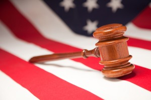 Austin divorce lawyers - Gavel and American Flag