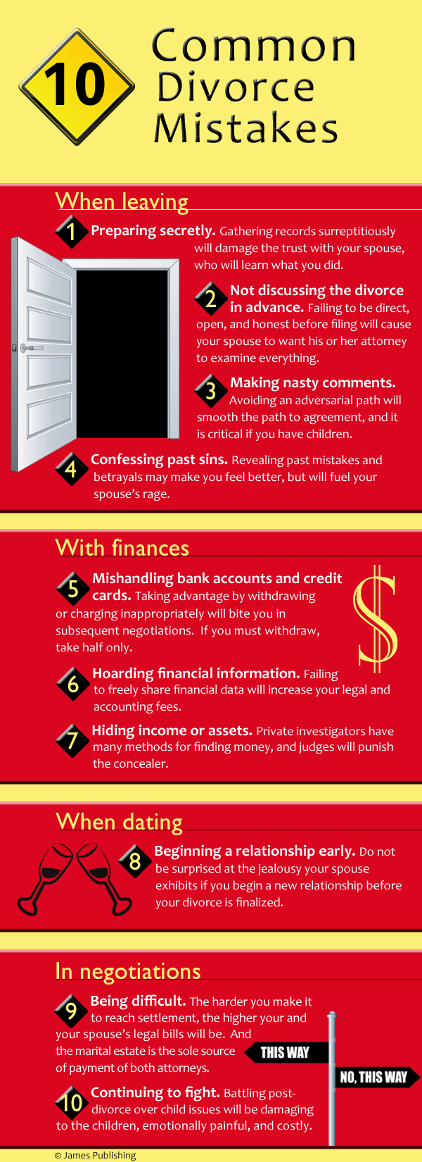 Austin Family Lawyers - Common Divorce Mistakes Infographic