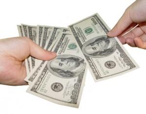 Austin Divorce Attorney - money being handed over