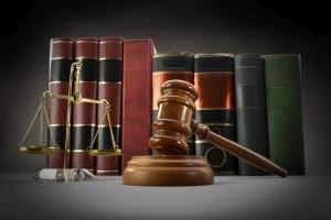 Law Symbols gavel balance books Austin Family Attorneys